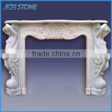 Nature polished stone electric fireplace insert