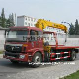 best quality 6 wheeler auman wrecker tow truck with crane 6.3 ton