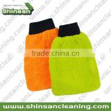 microfiber car wash mitt with net cloth/ Microfiber Car Cleaning mitt/Microfiber cleaning chenille Car wash mitt