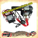 Unity manufacturer New Steel material auto parts SGS And CE Approved 3500lbs mini 12v electric Winch with steel Rope