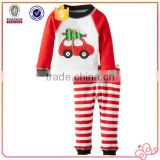 2016 new pajamas car applique christmas baby boy clothes