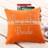 Wholesale Rhinestone Design Iron On Throw Pillow
