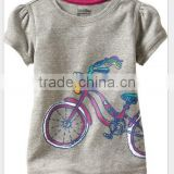 fashion new arrival boys and girls cartoon summer t shirts children's bike pattern summer T-shirts kids clothes