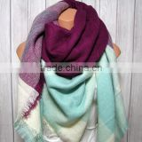 Blanket Scarf for Women, , Blue Berry Mint Women's Gifts Oversized Large Unique Winter Scarves