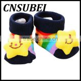 Wholesale cute cartoon baby anti-slip socks newborn baby three dimensional doll cotton tube socks