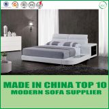 Modern design leather bed LB8001 from Lizz Furniture