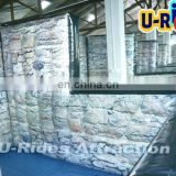 Silvery Color Paintball Bunker Inflatable Paintball Wall For Fun for game