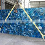 Semiprecious Blue Agate Stone Slabs for Wall and Countertop