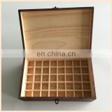 Luxury Unique Painting Spraying Retro Wooden Boxes, Essential Oil Wooden Packagings,Graven Logo Boxes