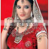 Bollywood jewelry exporter, bridal wedding jewellery necklace, chocker, bracelet, ring, earrings, headpiece manufacturer