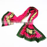 fashion wool pure ladies pashmina scarf