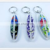Custom logo surfboard shaped Acrylic keychain