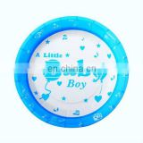 "Fashional 7"" blue round cute baby boy's theme paper plates"