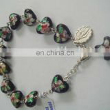 glass rosary chaplet