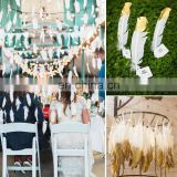 Glitter Dipped Feathers For Bohemian Party Wedding Decoraion Craft