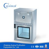 Dynamic HEPA embedded SS304 tempered glass Pass box