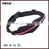 Waterproof waist bag,mens sport waist bag,sports waist bag single pocket lycra led running belt
