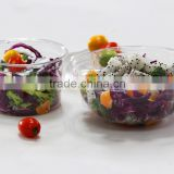 disposable salad bowl, plastic deli container, PET food container, takeaway salad container