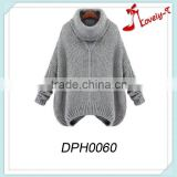 Wholesale lady sweater poncho knit woman cashmere sweater,handmade sweater design for girl