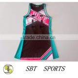 Custom Sublimation Digital Print Uniform Latest Netball Dress