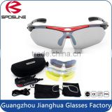 Hot style anti slip lightweight outdoor sport sunglasses with UV polarized replacement lenses
