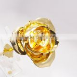 artificial royal golden rose natural flowers dipped 24k pure gold for promotion
