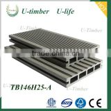 Anti-slip plastic wood flooring / decking timber tech WPC high quality good prices