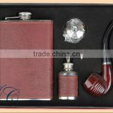Classic Cigarette Holder Hip Flask suit, Men's gifts set made of stainless steel