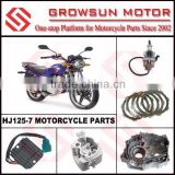 HJ125-7 Motorcycle Spare Parts, Carburetor, Clutch Plate, Crankcase