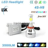 Strong brightness Auto Parts 4s LED Headlight 3500LM 35W h8 led headlamp powerful made in china