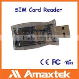 Amaxtek USB Cell Phone Mobile Phone SIM Card Reader Writer with CD Cell Phone SIM Card Reader                                                                         Quality Choice