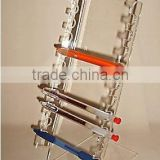 2 WAY CLEAR ACRYLIC 10 PEN LADDER RACK DISPLAY STAND