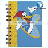 A4 double spiral custom cartoon paper cover notebook for promotion