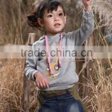 Sweet hood coats casual jeans dress designs/kids apparels suppliers