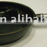 28cm Die Cast Aluminium Deep Fry Pan with wooden Handle and Ceramic Coating