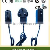 Universal 6V 1A 1000mA AC DC Adapter with CE FCC ROHS UL SAA RCM C-Tick GS CB KC BS approved