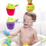 Q116 baby shower bath water bailer shampoo cup children shampoo tools scoop/water scoop