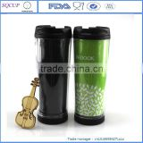 YONGKANG,China newest plastic personalized coffee mug inner lined with fancy paper inside