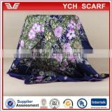 2015 New Style Floral Print 100% Silk Twill china wholesale scarf                                                                         Quality Choice