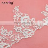 Fashion organza flower bridal lace trim with cross WTPA-031                                                                                                         Supplier's Choice