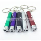 2 in 1 mini laser Counterfeit money detector pen ,multifunctional led pen with keychain