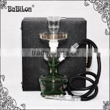 Wholesale Middle size Best price Shisha Hookah Glass with LED light Act clear Glass Hookah