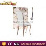 hardware unique rose gold stainless steel wedding dining chair