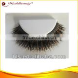 New styles Very Luxury 100% Fox Fur Mixed Real Mink Fur Strip Double Layer Eyelashes