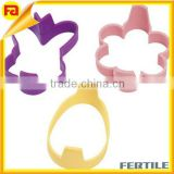 Silicone Pancake Ring Mold 3-Piece Set - Bunny ~ Egg ~ Flower