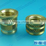 Headed Threaded Inserts, Brass Inserts with Flange, Helical Knurls Inserts