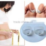 500 pieces/lot Magnet Reduce Weight Magnetic Silicone Slimming Toe Ring Feet Massage Weight Loss Health Care Body Massage