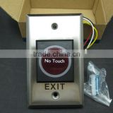 IR Tech Smart-Touch Door Release button for access control system,Stainless steel infrared Sensor Exit Button