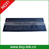 IP65 dynamic rated scratch proof industrial membrane keyboard/ keypad