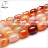 Natural Color Agate Rice Barrel Drum Shaped Agate Gemstone Loose Beads Strand Jewelry making Beads